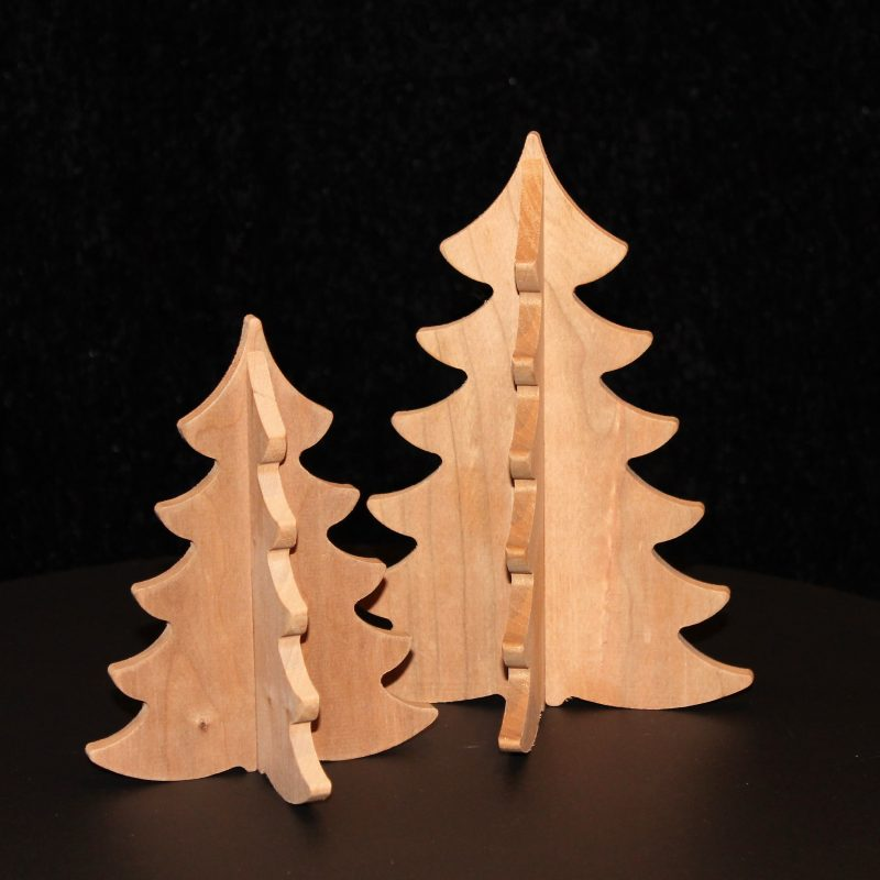 juletræer, træfigurer, hygge, indretning