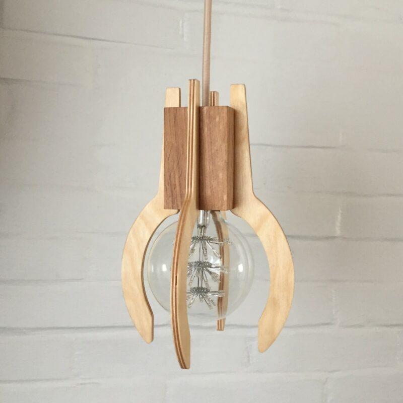 """Hængelampe """"Klodsen, Bordlampe """"Klodsen"""", hyggebelysning, designlampe, trælampe, LED lampe, indret med lys"""