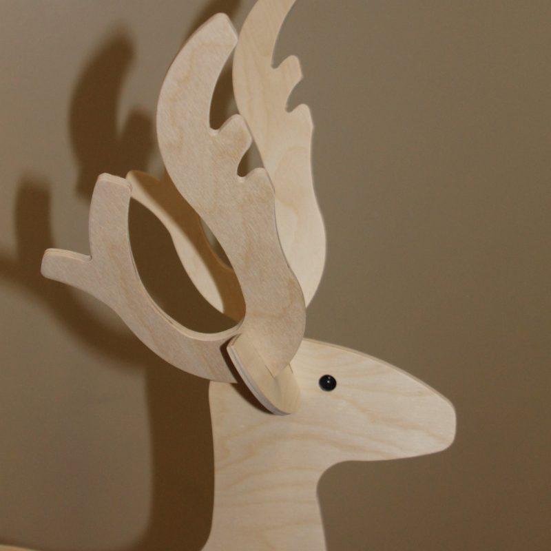 Rensdyret Rudolf, julefigur, træfigur